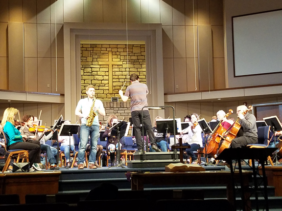 AP rehearsal with concerto winner