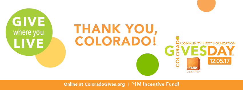 Colorado Gives Day Thank You
